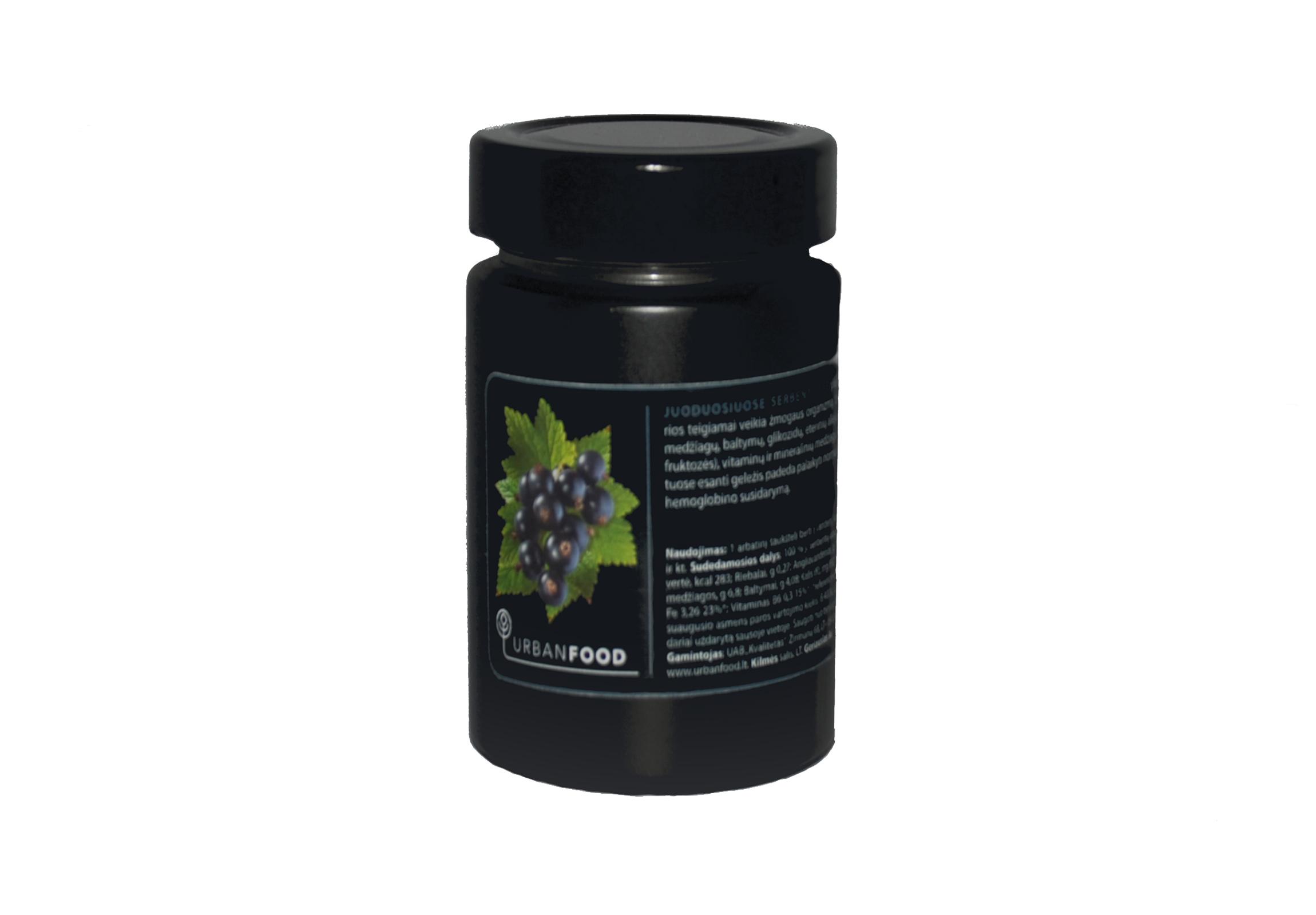 juoduju serbentu arbatos milteliai